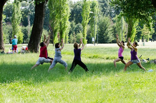 Teaching Yoga @ Festa Della Musica, Milan Italy