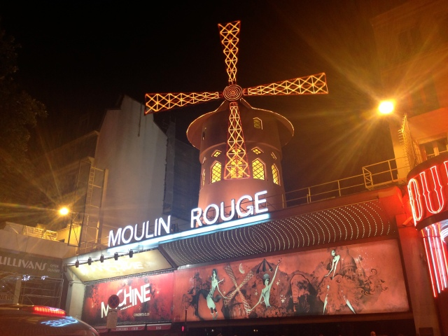 The infamous Moulin Rouge in Paris' red light district